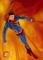 superman_burning_out_all by askarapunma