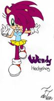 Wendy the hedgehog by Kentami