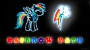 Rainbow Dash Glow Wallpaper by nsaiuvqart
