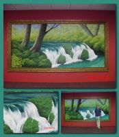 SBM waterfall mural by TerrifyingLint