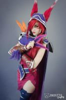 XAYAH - LEAGUE OF LEGENDS 01 by JinxKittieCosplay