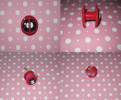 Deadpool Headphone/Earphone Organizer by ichigoluv
