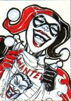 Harley Quinn Sketch Card by soulshadow
