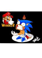 Sonic In Defeat by koude123