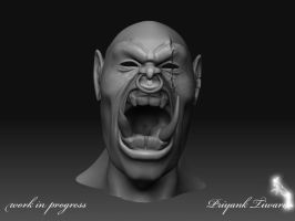 Orc Head wip by PT200