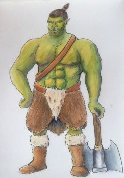 Orc barbarian by Whitecinnamon252