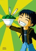 ALEXX. with his salad by kendrawer