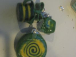 Clay: Green+Yellow Jewelry by leannetran
