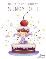 Happy 23rd Bday Sungyeol! by Jadekyy