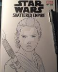 Star Wars Shattered Empire Sketch Cover Inks by matsuyama-takeshi