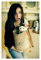 Anne-Laure and the Cat by Tomcita