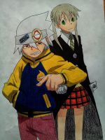 Soul and Maka by Hdomi