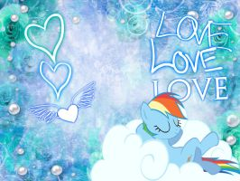 Rainbow Dash Wallpaper by funyan-lineart