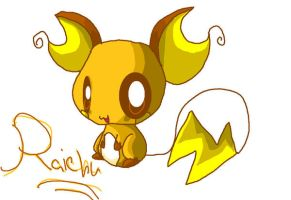 Raichu in MS Paint by Chaomaster1