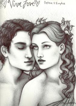Orpheus and Eurydice by taylovestwilight
