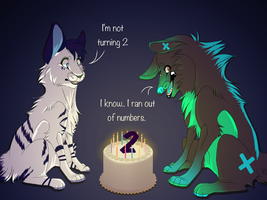 I Ran Out of Numbers.. by CyanCanine