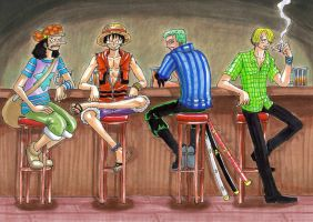 one piece, in the pub by heivais