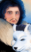 You Know Nothing, Jon Snow by Leenspiration