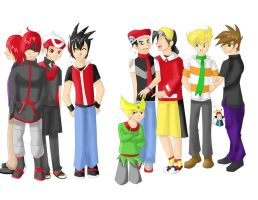 Pokemon Boys by Pokemon-Special-RP