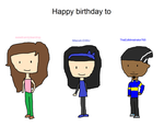 B-Day Gift to 3 people by Toongirl18