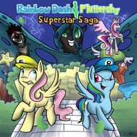 Rainbow Dash and Fluttershy: Superstar Saga by Angelstar7