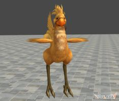 Wild Chocobo w. renamed bones by ManbeastMan