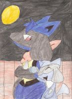 Lucario Riolu: Midnight stroll by Impish-insanity