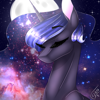 Galaxy Luna by TessiFromTheMoon
