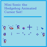 Mini Sonic Cursor Set by Hunny4