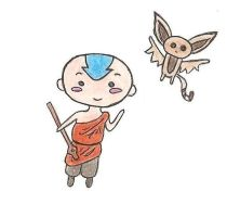 Chibi Aang by 1Foxylady