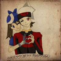 two parts of one happiness~Ruby and Sapphire by KellyKato