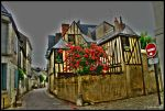 Une rue a Tours by Psychasthenique