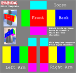 ShirtTemplate Roblox, download easier than roblox by blackrockanime