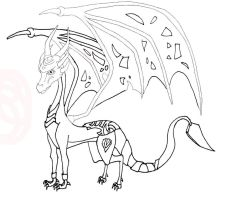 Adult Adelin lineart preview by Purpledragongirl