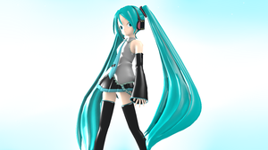 Blender test: Hatsune Miku by Vocalizer