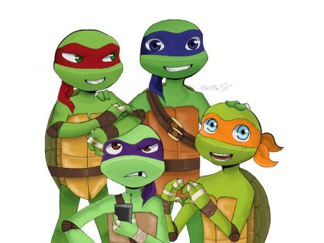Family pic ** TMNT ** by ChiiChii97