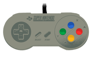 SNES Controller Colored Grunge by rimij405
