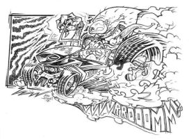 burn some rubber by illustrated1