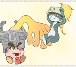 Goombella e Midna Hat Swap by Dralsk