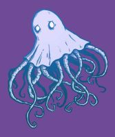 lil' lonely Cthulu ghost.. by neurotic-elf