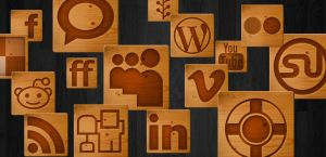 Woodcut Social Media Icons by arsgrafik