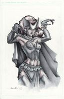 Scarlet Witch Marker Drawing by GavinMichelli