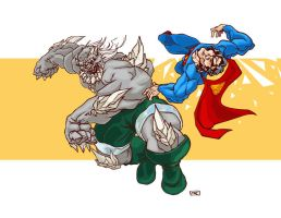 Supes vs. Dooms - color by andrewchandler80