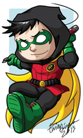 Chibi Damian Wayne Badge by TwinEnigma