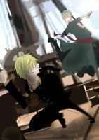 Sanji vs Zoro by HolderofTruth