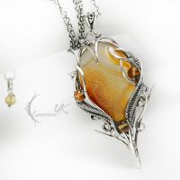FIRE OF FALTALVITH - silver , agate , citrine by LUNARIEEN