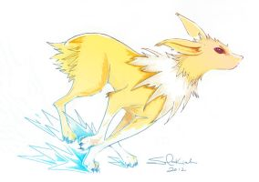 Day 4 Jolteon by Solkiah
