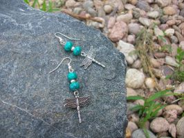 Dragonfly Earrings by DOC-Ash1391