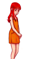 Orange dress by Damnit-Eori