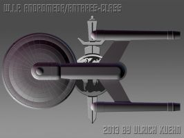 W.I.P. ANDROMEDA/ANTARES-CLASS Ortho-002-Top by ulimann644
